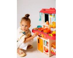 Детская кухня 889-168 c эффектом холодного пара, водой и светозвуковыми функциями, 42 предмета, высота 63 см