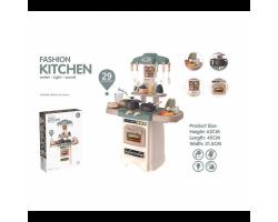 Детская кухня 889-195 HOME KITCHEN свет, звук, вода, пар 29 предметов (высота 62 см)