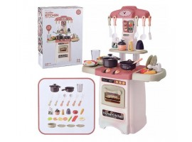 Детская кухня 889-196 HOME KITCHEN свет, звук, вода, пар 29 предметов (высота 62 см)