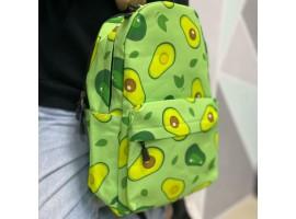 Рюкзак подростковый школьный с Авокадо   Зеленый