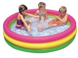 Детский бассейн Intex  Отблеск заката с надувным дном 3 кольца