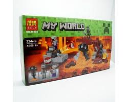 """Конструктор Bela 10469 """"Иссушитель"""" Майнкрафт (аналог LEGO 21126)"""