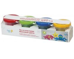 Набор для лепки Genio Kids Тесто-пластилин. Неоновые цвета TA1016V