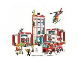 Конструктор Bela 10831 Пожарная часть (аналог Lego City 60110)