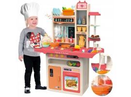 Детская кухня Home Kitchen 889-162 (светозвуковые эффекты +вода+ пар) 65 предметов