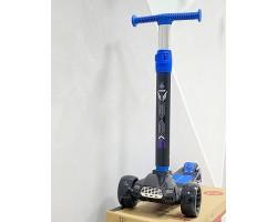 Самокат Big Maxi Scooter 1620|Синий цвет| Светящиеся колеса, фары