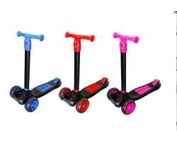 Самокат Big Maxi Scooter 1620|Розовый цвет |Светящиеся колеса, фары