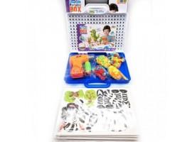 Конструктор c шуруповертом, СТОЛОМ и СТУЛОМ 208 деталей Creative Learning Table