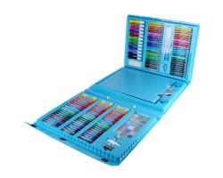 """Набор для рисования """"Юный художник"""" с мольбертом 208 предметов, Darvish Голубой"""