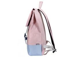 8848 / Рюкзак Пятачок на крышке (Розовый/Голубой)