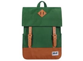 8848 / Рюкзак Пятачок на крышке (Зеленый/Коричневый)