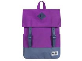 8848 / Рюкзак Пятачок на крышке (Фиолетовый /Синий)