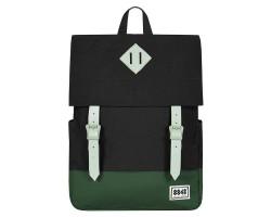 8848 / Рюкзак Пятачок на крышке (Черный/Зеленый