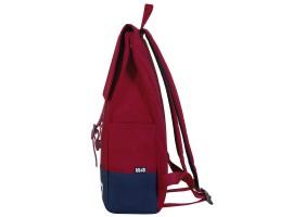 8848 / Рюкзак Пятачок на крышке (Бордо/синий)