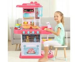 Детская кухня Home Kitchen 889-152 (с циркуляцией воды и паром) 43 аксессуара