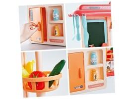 Детская кухня 889-168 Home Kitchen (свет, звук, вода, пар 42 предмета (высота 63 см)