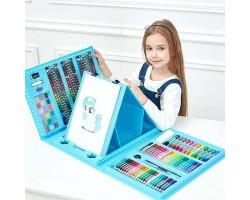 """Набор для рисования """"Юный художник"""" с мольбертом 208 предметов, 2 цвета"""