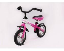 Беговел-AIR-Розово-белый с надувными колесами Delanit Speedy 7210023