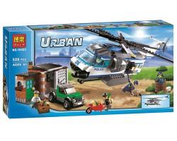 Конструктор  Bela Urban 10423 Вертолет наблюдения 528 деталей аналог LEGO City (Лего Сити) 60046