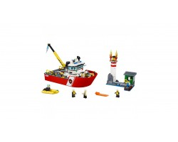 Конструктор Bela 10830 Пожарный катер (Аналог Lego City 60109) 450 деталей
