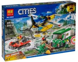 Конструктор Bela 10864 Ограбление у горной реки (аналог Lego City 60175)