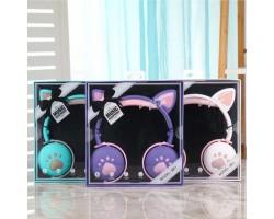Наушники BK1 детские беспроводные с Кошачьими Ушками  (цвет БИРЮЗА)