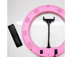 Кольцевая лампа RS - 32 см  розовая c пультом и штативом