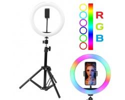Кольцевая светодиодная лампа Mj33+разные цвета свечения