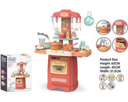 Детская кухня 889-176 Fashion Kitchen (свет, звук, вода, пар 29 предметов  (высота 6 см)