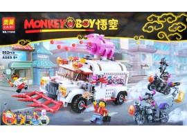 Конструктор Грузовик кафе Пигси Lari 11542 (аналог LEGO Monkie Kid 80009) 862 детали