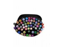 Набор двусторонних маркеров-фломастеров  для скетчинга 60 цветов в чехле