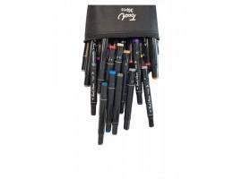 Набор двусторонних маркеров-фломастеров  для скетчинга 36 цветов в чехле