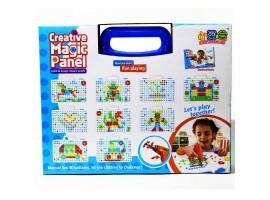 Конструктор - мозаика с шуруповертом на батарейках Creative Magic Panel, 151 деталь, арт. 598