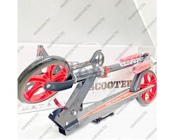 Самокат двухколесный Scooter 2032|Красный цвет| Нагрузка до 100 кг