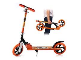 Детский двухколесныйScooter самокат 3623B Оранжевый Нагрузка до 100 кг