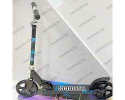 Детский двухколесныйScooter самокат 3623B|Черно\синийНагрузка до 100 кг