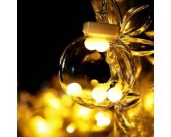 Новогодняя светодиодная гирлянда штора Шарики
