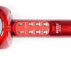 Беспроводной караоке микрофон Wster ws 1816 БОРДОВЫЙ (RED)