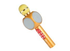 Беспроводной караоке микрофон Wster ws 1816 ЗОЛОТОЙ (Gold)