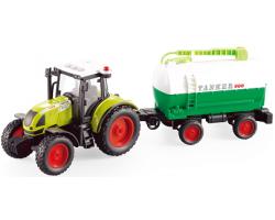 Инерционный трактор с бочкой для полива и со светозвуковыми эффектами
