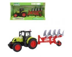 Инерционный трактор  с сельскохозяйственным прицепом и со светозвуковыми эффектами