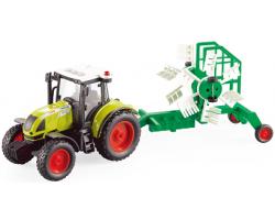 Инерционный трактор с сельскохозяйственным прицепом и со светозвуковыми эффектами!