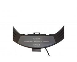 Кольцевая светодиодная лампа YQ-320B+Штатив 2 м+держатель для телелфона