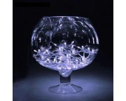 Гирлянды светодиодные прозрачный провод 100-500 лампочек