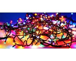 Гирлянда светодиодная черный провод 100- 500 лампочек