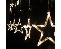 Новогодняя светодиодная гирлянда штора Звезды