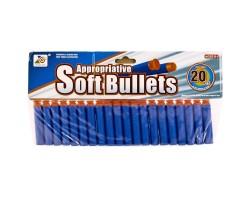 Набор мягких снарядов для бластеров 02*20 с присосками