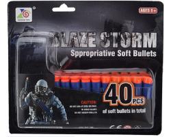 Набор патронов (2 вида по 20 шт) + нагрудная патронтажная лента Blaze Storm