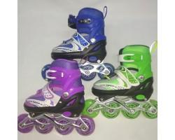 Раздвижные роликовые коньки Roller Lights  SS31252 (S,M) 3 цвета