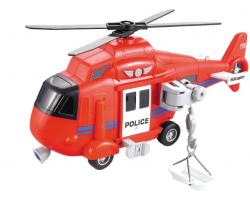 1:16 Инерционная игрушка Вертолет спасателей  свет, звук WY750B